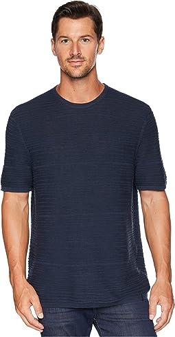 Texture Stripe Linen T-Shirt