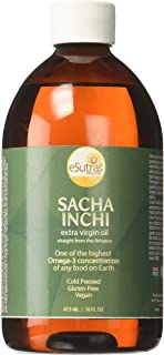 Esutras Organics Premium Sacha Inchi Vegan Omega Drizzle Oil, 16 Ounces