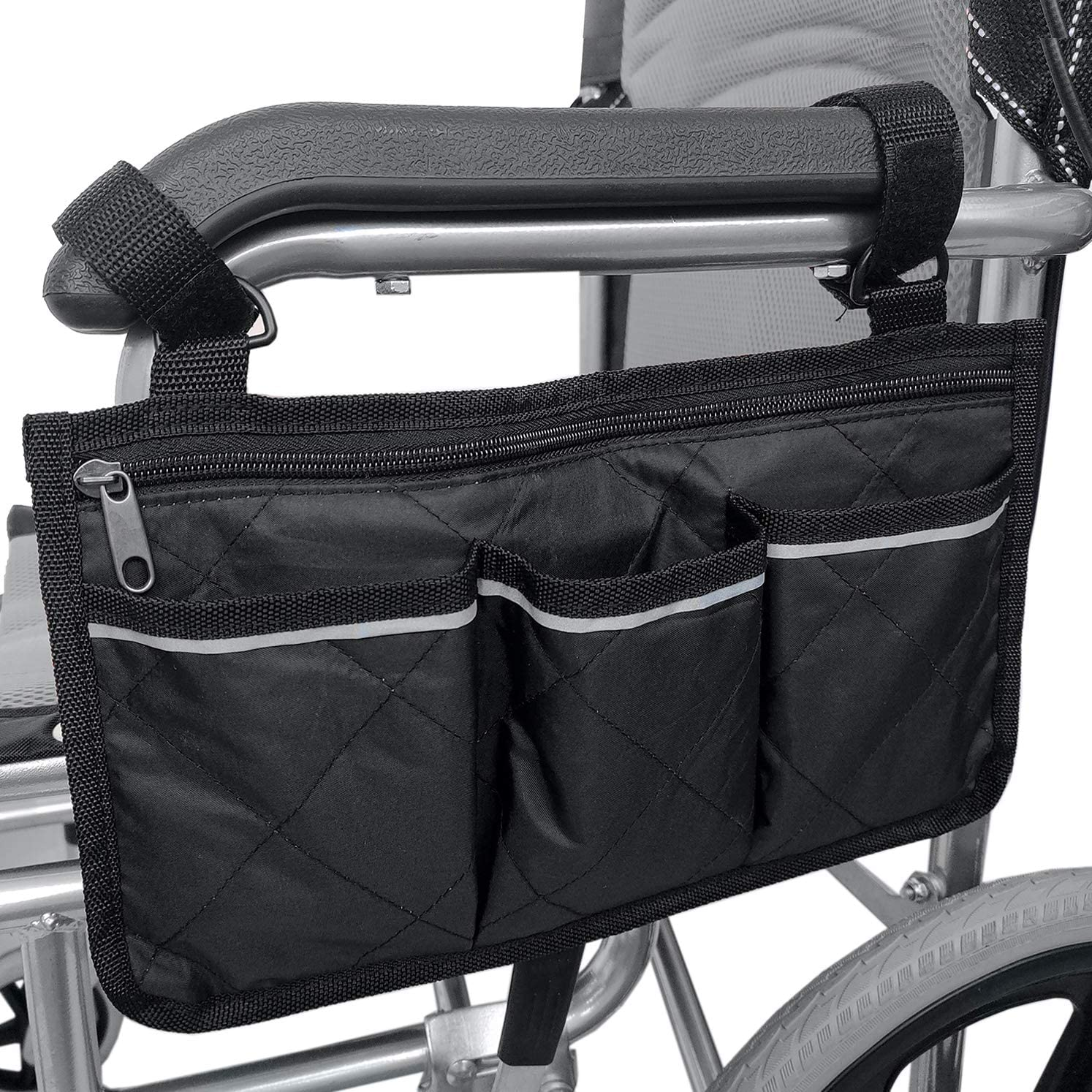San Francisco Mall Wheelchair Side service Bag Waterproof Reflective Pouch with Armrest