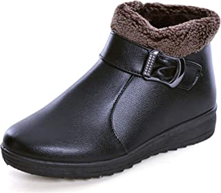 Hee grand Womens Flat Ankle Boots Warm Fur Winter Snow Boots Shoes