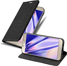 Cadorabo Book Case Works with Samsung Galaxy A8 2016 in Night Black – with Magnetic Closure, Stand Function and Card Slot – Wallet Etui Cover Pouch PU Leather Flip