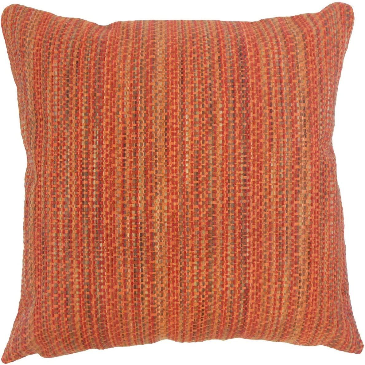 free Stripes 24-inch Feather Throw Pillow Stripe Finally popular brand Synthetic Fib Orange