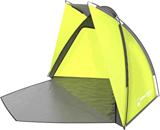 Wakeman Beach Tent Sun Shelter for Shade with UV Protection Water & Wind Resistant Easy Set Up, Green