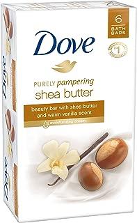 Dove Purely Pampering Beauty Bar, Shea Butter 4 oz, 6 Bar