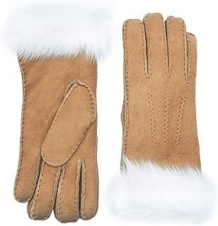 Women's Merino Sheepskin Shearling Leather Gloves Furry Cuff