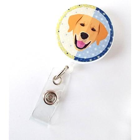 student badge Dog lover teacher badge cat lover id holder id badge badge reel vet tech badge paw print animal lover nurse badge