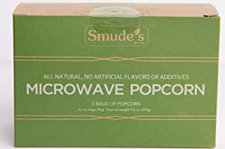 Smude's Brand Microwave Popcorn (1 box of 3 bags)
