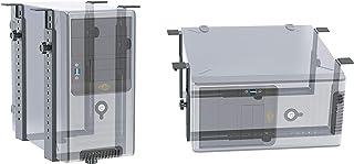 RICOO TRH-02, Soporte torre PC, Montaje debajo escritorio, Ajustable, Extensible Instalación de ordenador bajo de mesa, Horizontal, Vertical, Negro