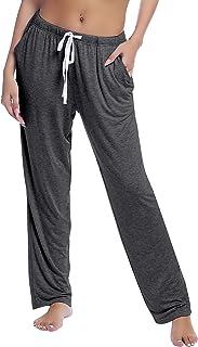 Joyaria Womens Lounge Pajama Pants Terry Sweatpants Drawstring Bottoms with Pockets