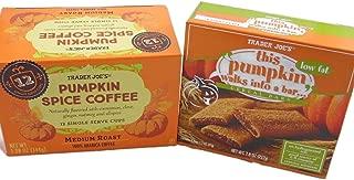 Trader Joe's Pumpkin Spice Bundle: 2 Items: 1 Pumpkin Spice Medium Roast Coffee, 12 Single Serve K-cup Box (12 Count) 1 Trader Joes This Pumpkin Walks Into a Bar... Cereal Bars (6 Count)