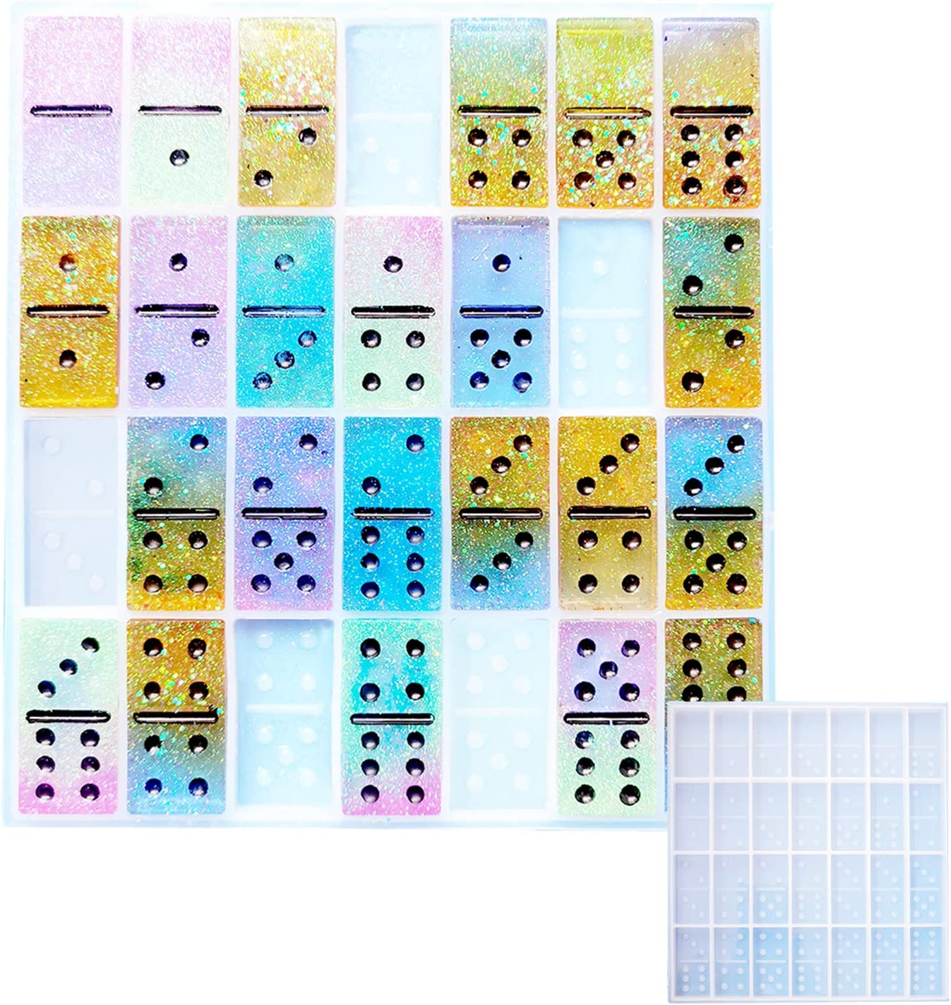 SXLFY Domino Resin Molds,DIY 1 Set ,Pyr Max 68% Manufacturer OFFicial shop OFF 28 of Cavities