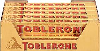 Toblerone Swiss Milk Chocolate with Honey & Almond Nougat, Holiday Christmas Chocolate Gift, 20 - 3.52 oz Bars