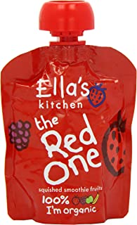 Ella's Kitchen Organic Fruit Smoothie, The Red One, 5 x 90 g (Pack of 1)