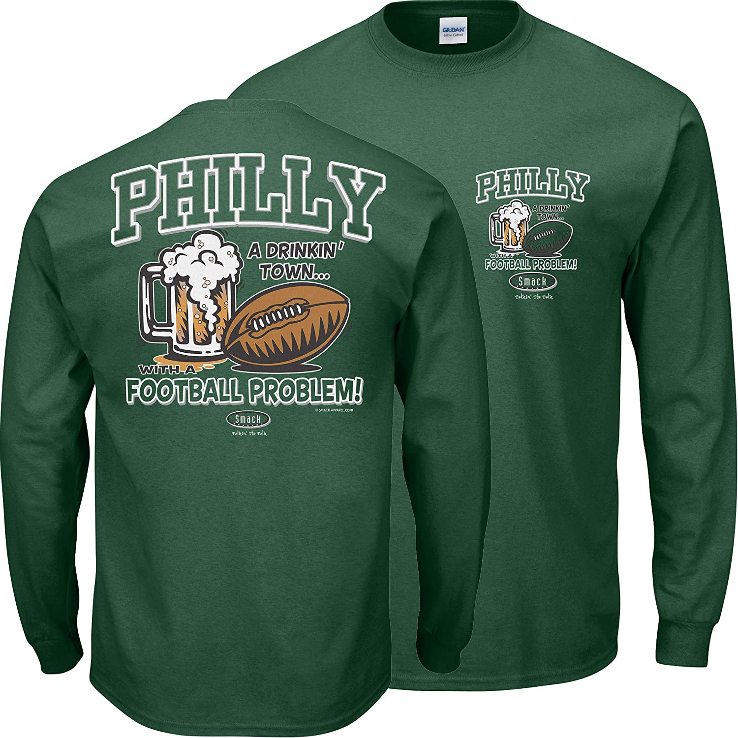 Smack Apparel Financial sales sale Philadelphia Genuine Free Shipping Football Fans. w Town Drinking Philly