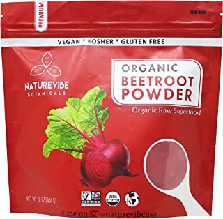 Organic Beet Root Powder (1 lb) by Naturevibe Botanicals, Raw & Non-GMO | Nitric..