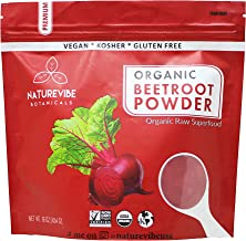 Organic Beet Root Powder (1 lb) by Naturevibe Botanicals, Raw & Non-GMO   Nitric Oxide Booster   Boost Stamina and Increases Energy [Packaging May Vary]