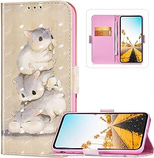 Flip plånbok telefonfodral för Xiaomi Redmi Note 9 Pro, PU-läder sött mönster fodral [cykelställ] [kortspår] [Magnetspänn...