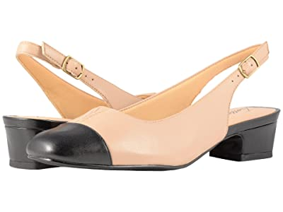 Trotters Dea (Nude/Black Soft Leather/Smooth Man Made) Women