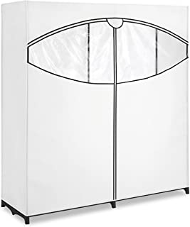 "Whitmor Extra-Wide Clothes Closet 60"" with White Cover"