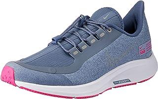 Nike Australia Girls Air Zoom Pegasus 35 Shield GS Fashion Shoes, Work Blue/Reflect Silver-Diffused Blue