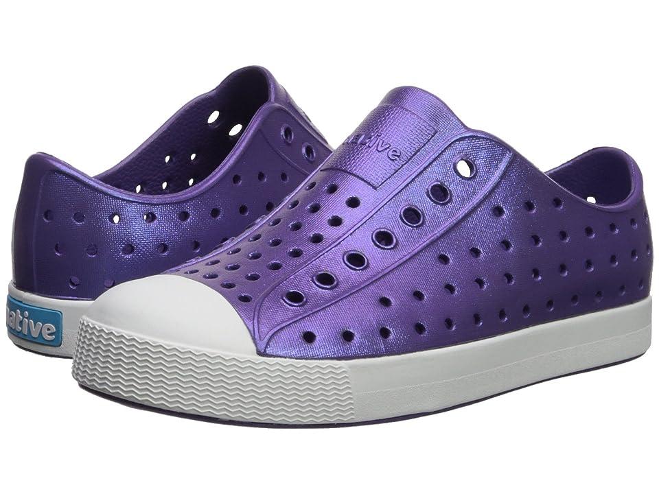Native Kids Shoes Jefferson Iridescent (Little Kid) (Starfish Purple/Shell White/Galaxy) Girls Shoes