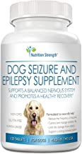 Nutrition Strength Dog Seizure Support, Supplement for Epilepsy in Dogs, with Organic Valerian Root, Chamomile and Blue Ve...