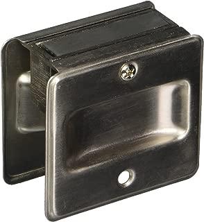 Schlage 990 1-3/4-Inch x 2-1/4-Inch Sliding Pocket Door Pull, Satin Nickel