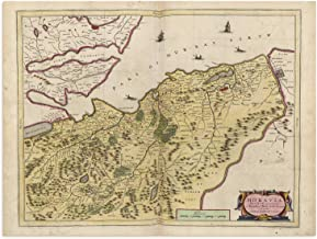 The Blaeu Prints | Moray Firth, Scotland - Historical Map Print from Antique Atlas by Joan Blaeu - Old Map Shows: Inverness, Elgin, Forres