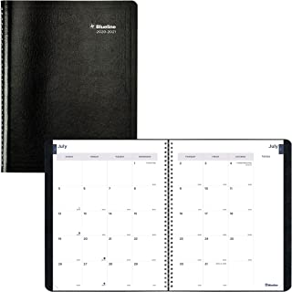 Blueline 2020-2021 Monthly Academic Planner, 14 Months, July 2020 to August 2021, Twin-Wire Binding, 11 X 8.5 Inches, Blac...