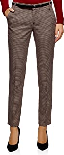 oodji Ultra Women's Basic Belted Trousers