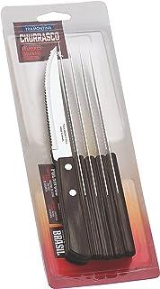 FSC Tramontina Steakmesser Pizzamesser, Set 6-teilig, mit 6 Steakmessern aus Edelstahl,..