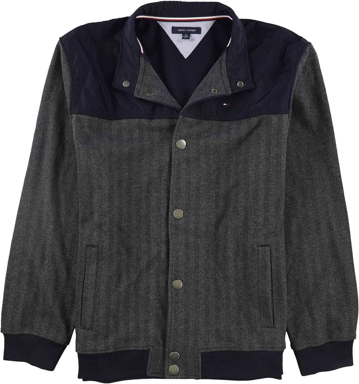 Tommy Hilfiger Mens Herringbone Bomber Jacket