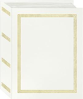 "Pioneer Photo Albums A4-100 White Photo Album, 100 Pockets 4""x6"""