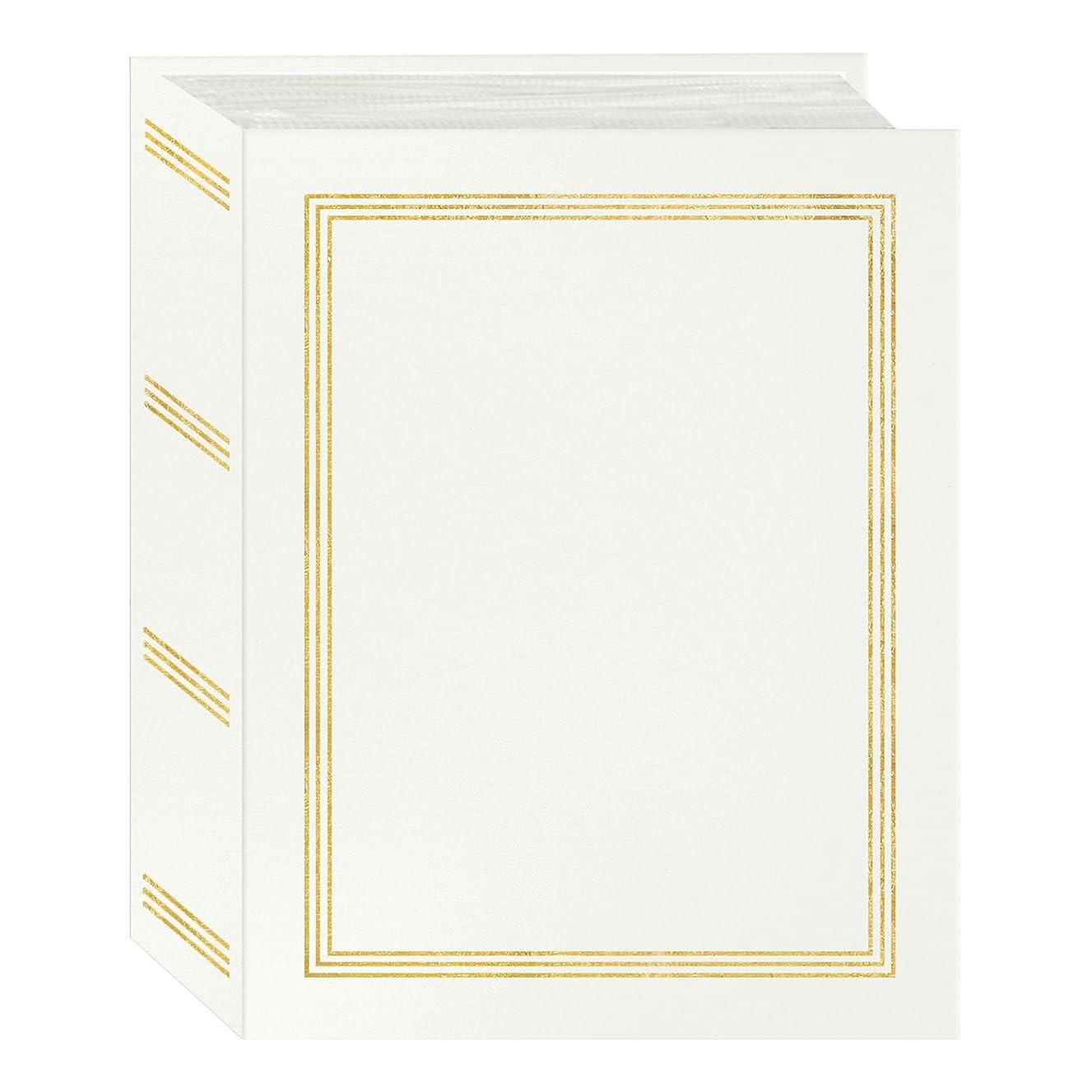 Pioneer Photo Albums A4-100 100 Pocket Mini-Max Album Hold 4x6 Photos, White, 4