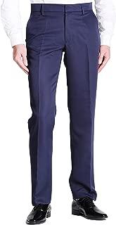 VERO VIVA Men's Straight Leg Fit Flat Front Dress Pants Business Casual Trousers