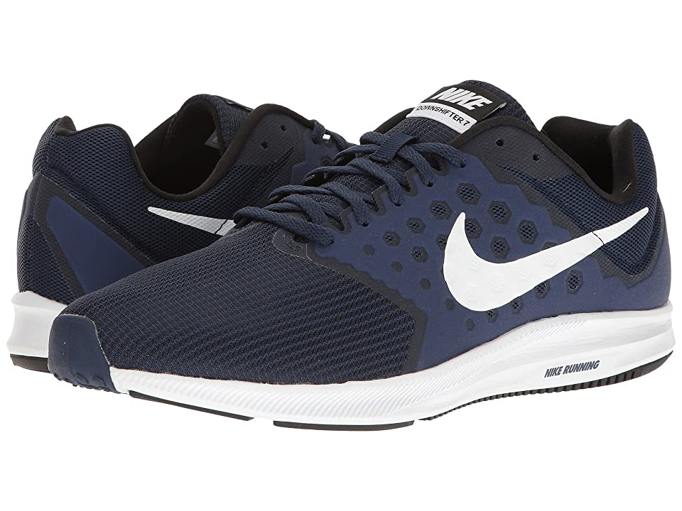 Nike Downshifter 7 (Midnight Navy/White/Dark Obsidian/Black) Men