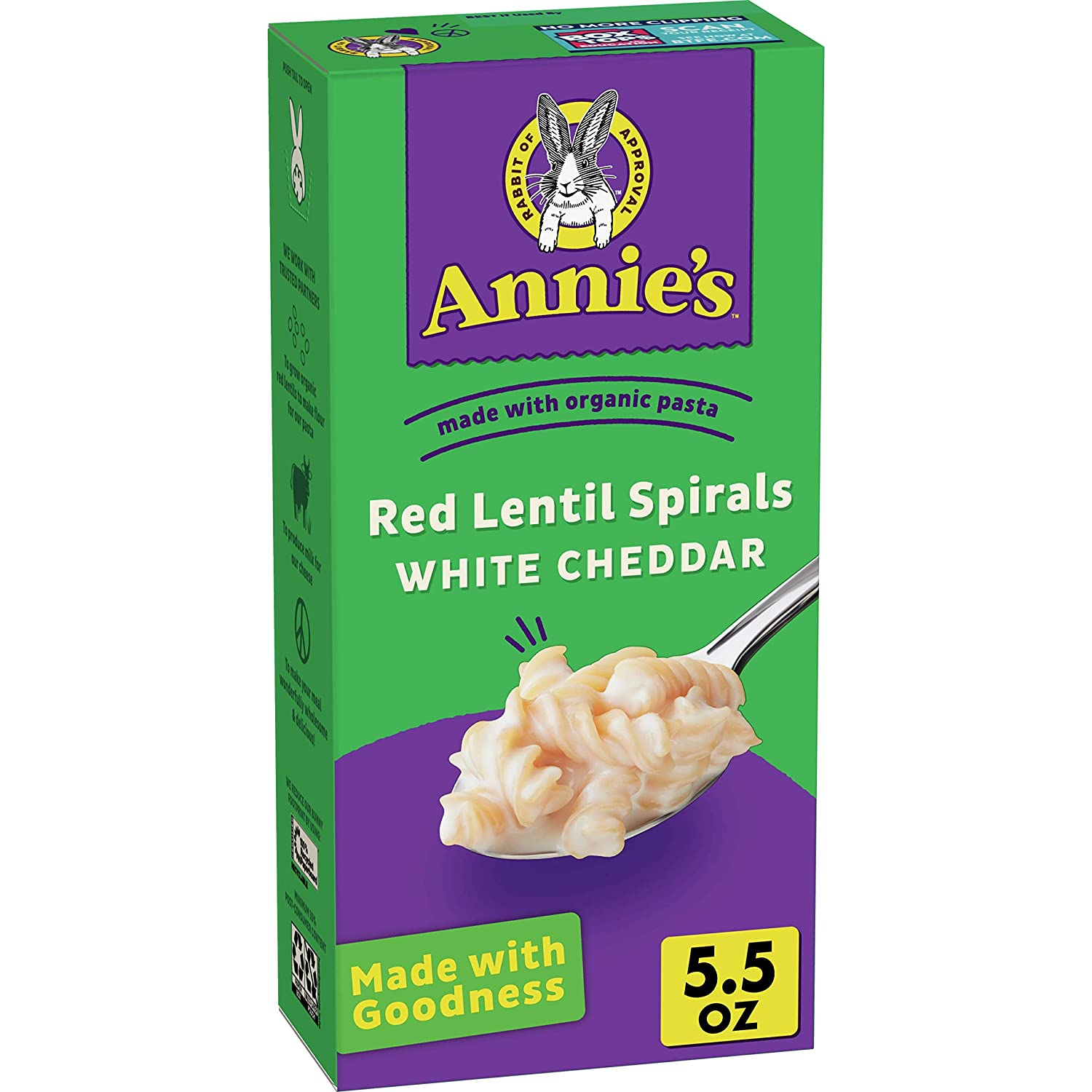 Annie's Homegrown Red Ranking TOP9 Lentil Ched White Bargain – Spirals