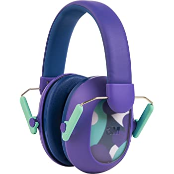 3M Kids Hearing Protection PLUS, Hearing Protection for Children with Adjustable Headband, Purple, 23dB Noise Reduction Rating, Studying, Quiet, Concerts, Events, Fireworks, For Indoor and Outdoor Use