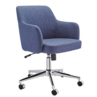 Amazon Basics Twill Fabric Adjustable Swivel Office Chair - Blue