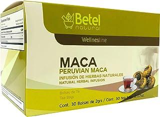 Peruvian Maca Tea by Betel Natural - Amazing Libido and Hormonal Imbalance Support - 30 Tea Bags