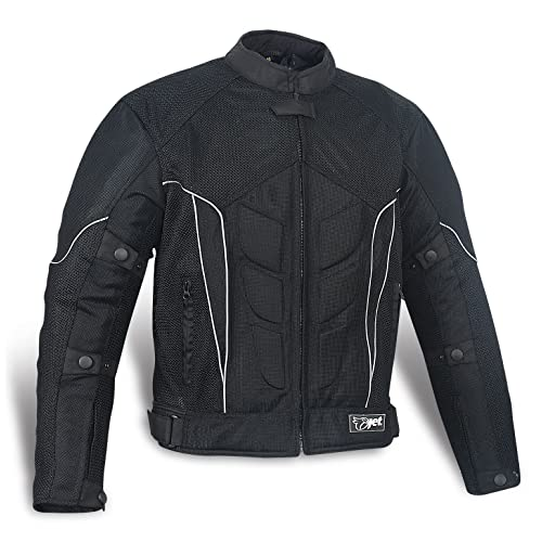 c22543e1ea1 JET Textile Air Mesh Motorcycle Motorbike Summer Jacket CE Armoured