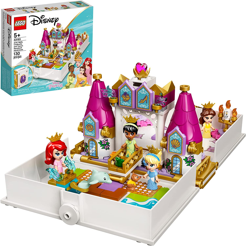 LEGO Disney Ariel, Belle, Cinderella and Tiana's Storybook Adventures 43193...