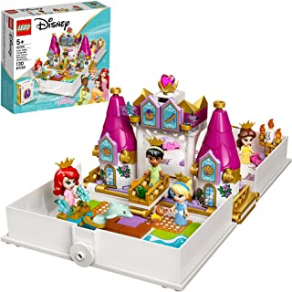 LEGO Disney Ariel، Belle، Cinderella and Tiana's Storybook Adventures 43193 Building Toy for Kids؛ جدید 2021 (130 قطعه)