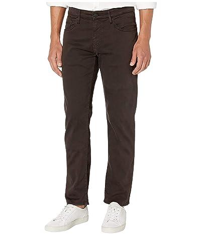 Mavi Jeans Zach Mid-Rise Straight Leg in Black Coffee Sateen (Black Coffee Sateen) Men