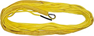 T.W Evans Cordage 87-316-50 Amsteel Blue Winch Line with Stainless Steel Thimble and Chafe Guard, Yellow