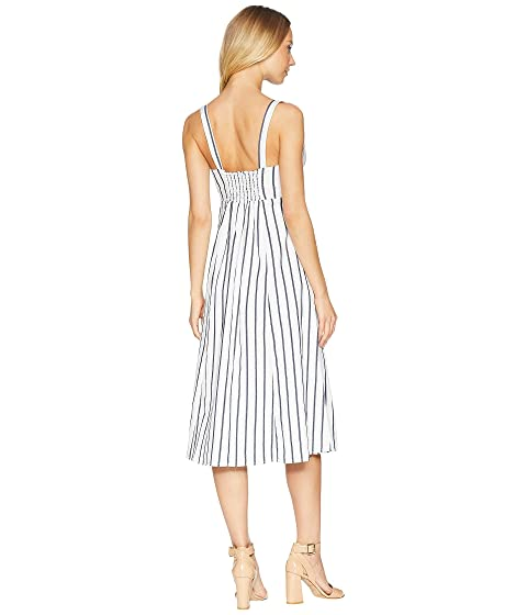 Splendid Tie Front Midi Dress Off-White Buy Cheap Wholesale Price Discount Fashionable Aberdeen Cheapest Price For Sale EtrPe