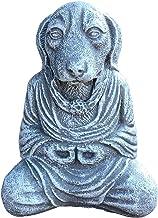 F Fityle Eastern Buddhist Resin Meditating Buddha Dog Figurine Monk Feng Shui Statue 12.7x10cm, Decorative