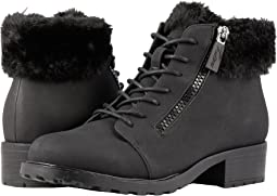 Black Nubuck PU Waterproof/Faux Fur