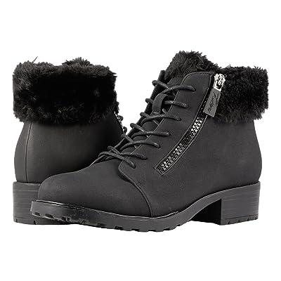 Trotters Below Zero Waterproof (Black Nubuck PU Waterproof/Faux Fur) Women