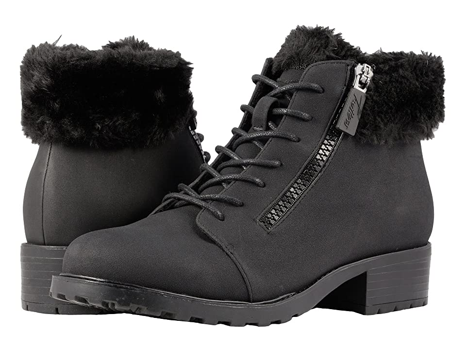 Trotters Below Zero Waterproof (Black Nubuck PU Waterproof/Faux Fur) Women